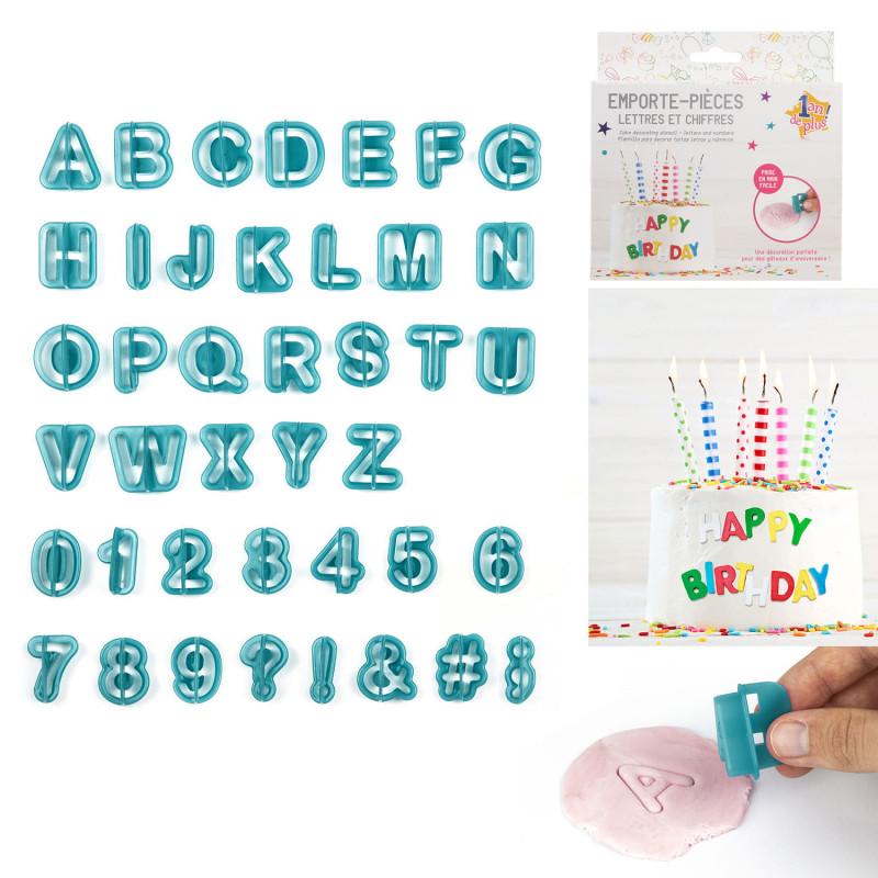 Grossiste emporte-pièce décoratif avec lettres et chiffres