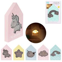 Grossiste décoration lumineuse maison en bois pour enfant spécial licorne