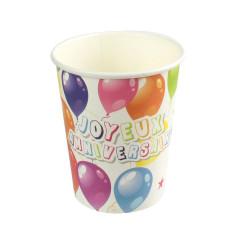 Grossiste gobelet d'anniversaire x6