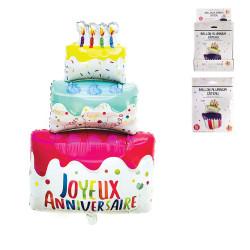 Grossiste ballon en aluminium gâteau anniversaire 45x22x80cm