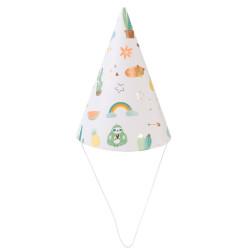 Grossiste chapeau d'anniversaire vert x6