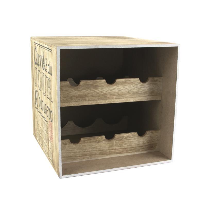 grossiste cave vin en bois pour 6 bouteilles tradaka. Black Bedroom Furniture Sets. Home Design Ideas