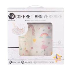 Grossiste set accessoire d'anniversaire rose x40