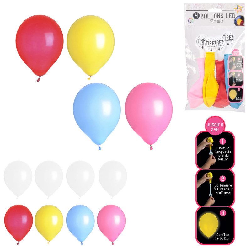 Grossiste ballon LED x4