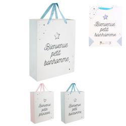 Grossiste sac cadeau spécial naissance 27x8x32cm
