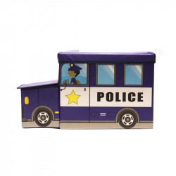 Grossiste coffre de rangement en forme de bus bleu foncé