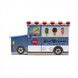 Grossiste coffre de rangement en forme de bus bleu
