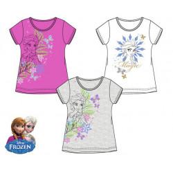 Grossiste t-shirt manches courtes reine des neiges assortiment 3