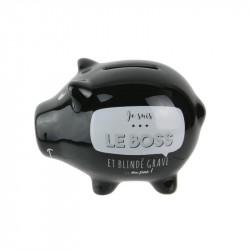 Grossiste et fournisseur. Tirelire en forme de cochon noire