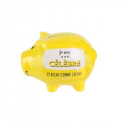 Grossiste et fournisseur. Tirelire en forme de cochon jaune