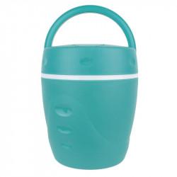 Grossiste et fournisseur. Lunchbox chaud et froid avec sa cuillère turquoise.