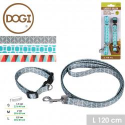 Grossiste laisse pour chien avec collier à motif géométrique