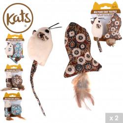Grossiste jouet pour chat souris liberty avec plume x2