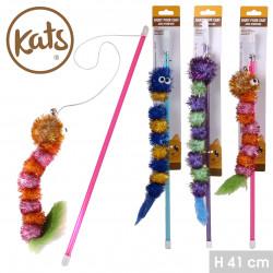Grossiste jouet pour chat avec pompons et cloche
