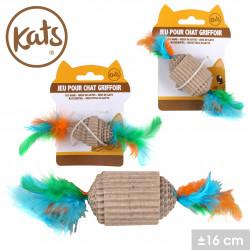 Grossiste jouet pour chat griffoir avec plume