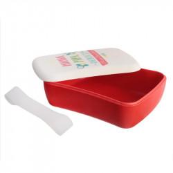 Grossiste boîte à repas rouge en bambou avec élastique
