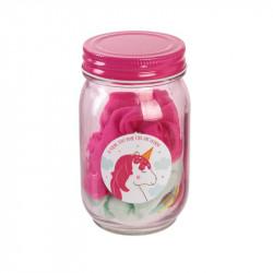 Grossiste Mason jar rose avec accessoires cheveux