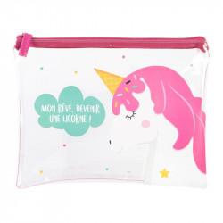 Grossiste pochette rose pour enfant 20x26cm