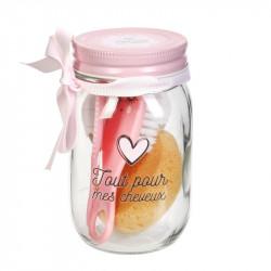 Grossiste Mason jar spécial beauté rose