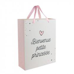Grossiste sac cadeau spécial naissance 27x8x32cm rose