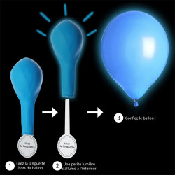 Grossiste ballon LED bleu x4