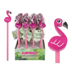 Grossiste crayon avec gomme flamant rose