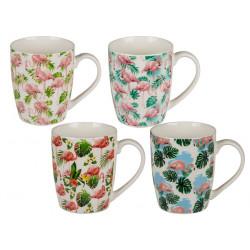 Grossiste mug en porcelaine fine motif flamant rose
