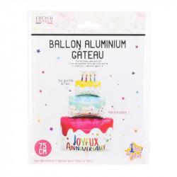 Grossiste ballon en aluminium en forme de gâteau anniversaire 45x22x80cm