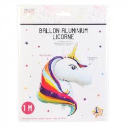 Grossiste ballon en aluminium en forme de licorne 100cm