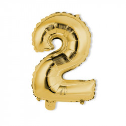 Grossiste ballon en forme de chiffre réutilisable doré 35cm