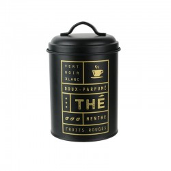 Tea metal storage canister