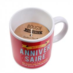 Grossiste bougie mug d'anniversaire rouge