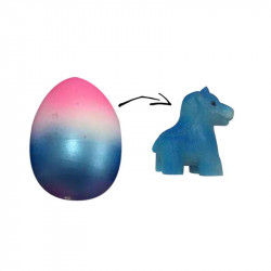 Grossiste œuf magique multicolore licorne bleue