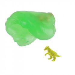 Grossiste pochette pâte gluante avec jouet dinosaure  jaune