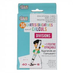Grossiste carte éducative spécial divisions effaçable x36