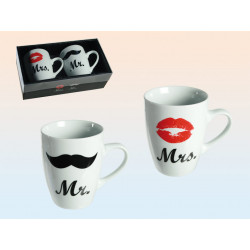 Grossiste mug en porcelaine mr et mme