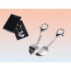 Porte clé métal coeur brisé