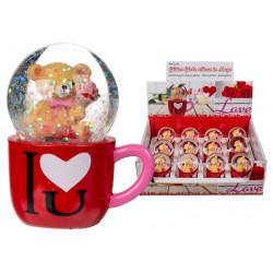 Boule à neige ours dans un mug