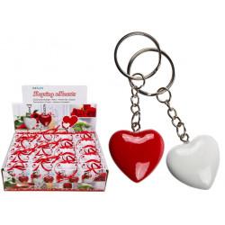 Porte clé coeur en polyrésine