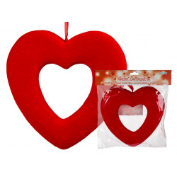 Coeur en plastique rouge à...