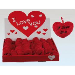 Coeur peluche rouge 10 cm