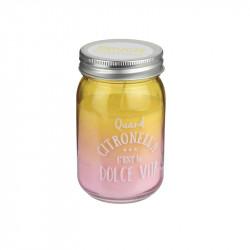 Grossiste et fournisseur. Bougie Jar à la citronnelle jaune.