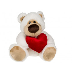 Ours en peluche coeur de 30 cm
