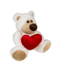Ours en peluche coeur de 20 cm