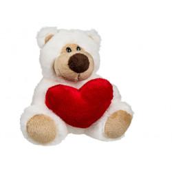 Ours en peluche coeur 15 cm