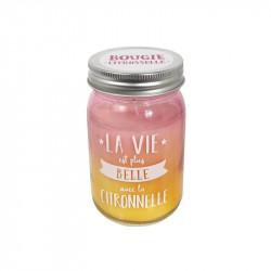 Grossiste et fournisseur. Bougie Jar à la citronnelle rose.
