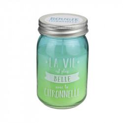 Grossiste et fournisseur. Bougie Jar à la citronnelle bleue.