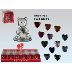 Grossiste ours en verre avec coeur