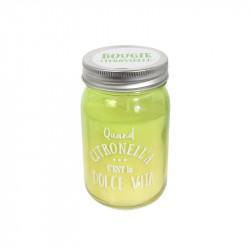Grossiste et fournisseur. Bougie Jar à la citronnelle vert.