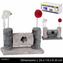 Cat tree with pompom and...